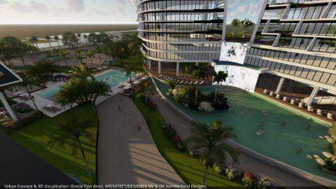 Hotel 3D Model - Ring Harbour - Ring Harbour - Paramaribo, Suriname
